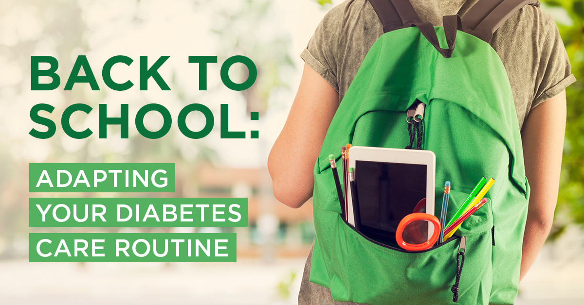 Back to School: Adapting Your Diabetes Care Routine